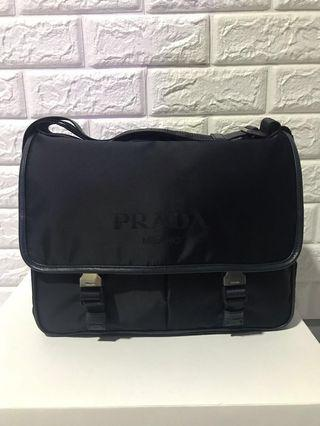 Prada Men's Shoulder Bag Blue