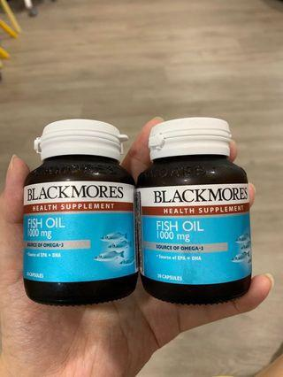 Blackmores Fish oil 100mg  2 for $15