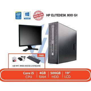 HP Elitedesk 800 G1 SET REFURBISH / Core i5 / 4GB RAM / 500GB HDD