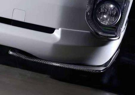 Hiace MTS front addon Carbon Fiber diffuser for all Hiace variants Euro 3-6 genuine carbon fiber price for a pair
