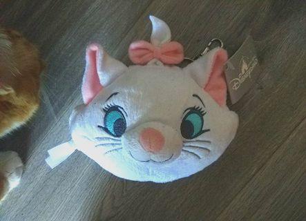 迪士尼 Marie 鏡&散子袋 (瑪麗貓公仔鏡)