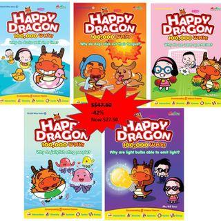 Happy Dragon 100,000 Whys (26-30) New Released 5 Books Bundle Science Comics for Primary School