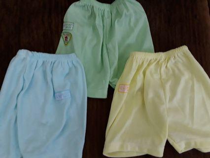 Celana pendek bayi harga 3pcs