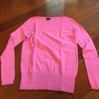 全新! Ann Taylor粉色針織衫