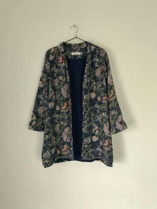 日本製浮世繪罩衫/防曬外套/和服/古著復古老品
