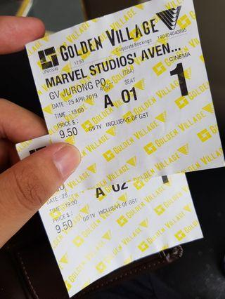🚚 Avengers End Game Movie tickets with free popcorn and drink