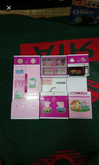 優惠🌸粉紅豬廚房櫃3件組