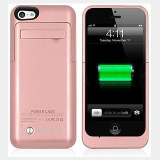ebab3a2ac5ad20 Kujian 2200mAh iPhone 5 External Battery Case Charger Backup Charging Power  Case with Kickstand 4 level