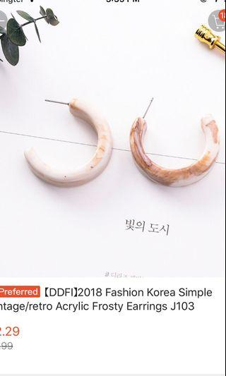 🚚 Acrylic hoop earrings