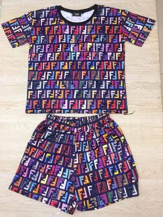 Fendi Set Shorts and Shirt