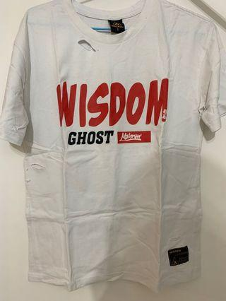 Japanese devil face white T-shirt