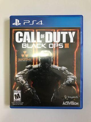 PS4 Game 遊戲碟 Call Of Duty Black Ops 3
