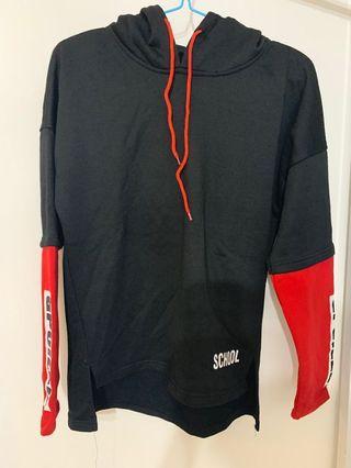 Black red hoodie