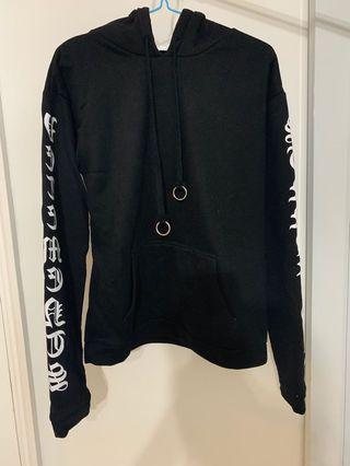 Black ring hoodie