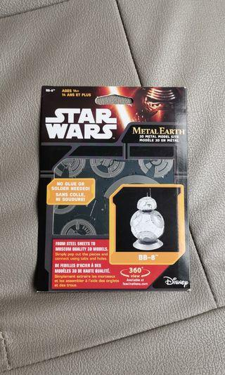 Star Wars The Force Awakens BB-8 Droid Metal Earth Steel Model Kit NEW SEALED