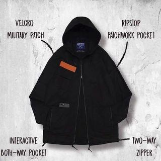 Goopi Goopimade Military Patch Hooded Jacket 全黑 孤僻君 軍工裝 9.3新