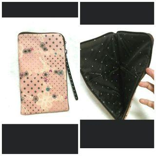 🚚 Pink Waterproof Long Wallet Pouch