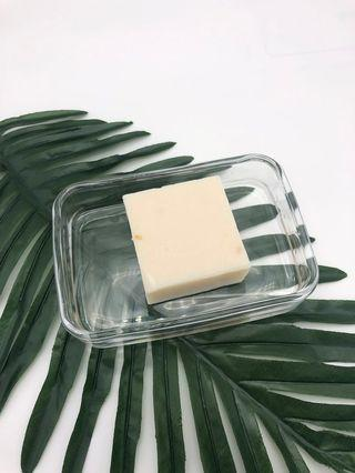 K Brother Thai Rice soap bar with Crystal clear soap dish