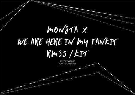 Monsta X : We Are Here fankit by @defyours