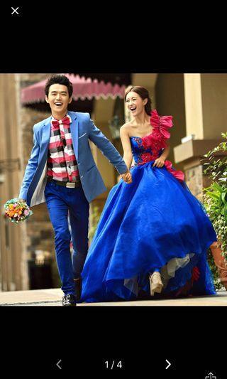 🚚 Wedding dress rental / blue wedding dress