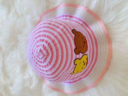 🚚 嬰幼兒粉色太陽帽可愛卡通圖案帽子
