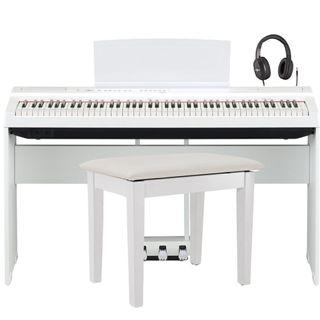 Yamaha P125WH + free headphone + $88 BC108 piano bench worth $145 (only 1 set available)