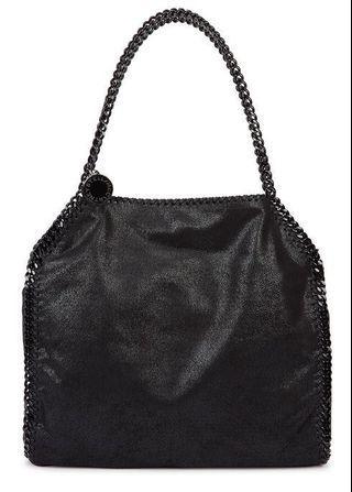 Stella McCartney Falabella dark black faux-suede tote