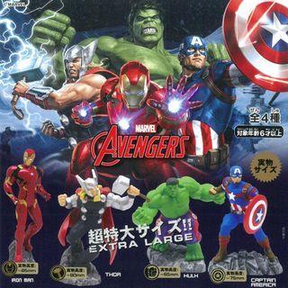 Marvel Avengers Captain America / Hulk / Thor / Ironman 復仇者聯盟 扭蛋