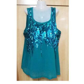Plus Size Sequin Top fits to 4XL