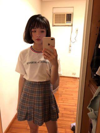 百折格子裙