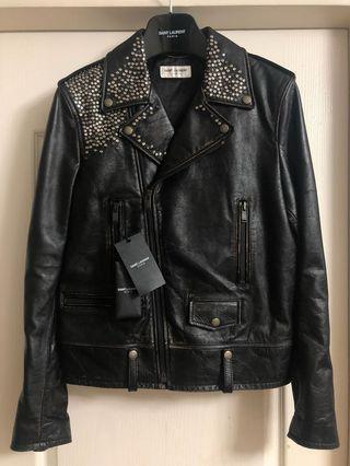 原價$43000 全新saint laurent Paris leather jacket Sz 46 new Slp