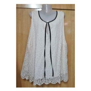 Plus Size H&M White Lace Top fits 3XL 4XL