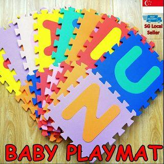 BRAND NEW! ONLY 1 SET! 👶 BABY CHILDREN ALPHABET PLAYMAT/FOAM MATS, WATERPROOF AND COMES IN A SET OF 26PIECES (LETTER A TO Z) EACH PIECE OF FOAM MAT IS 30CM X 30CM, COLOURFUL AND EDUCATIONAL FOR YOUR CHILD, ANTI SLIP, LIGHT AND EASY STORAGE!