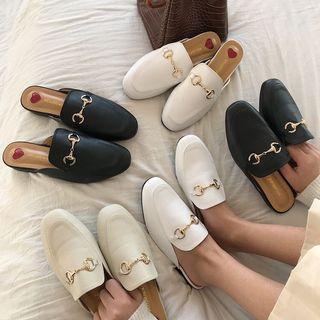 D022🌸3色*百搭心形鞋墊包頭涼鞋拖鞋