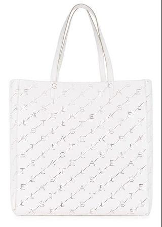 Stella McCartney Perforated-logo faux leather tote