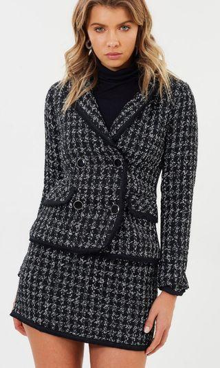 Atmos&Here Sara Fitted Tweed Blazer