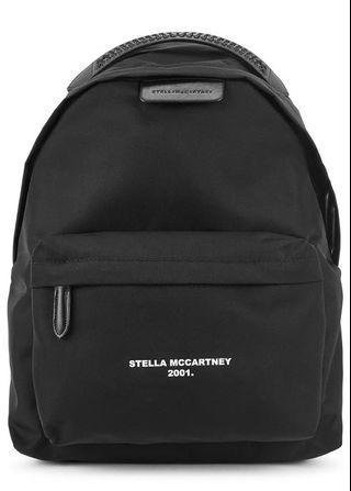 Stella McCartney Logo Go black nylon backpack