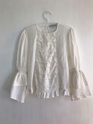 Zara embroidered top - free shipping