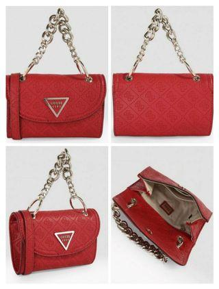 AUTHENTIC GUESS MINI CROSSBODY CHAIN BAG