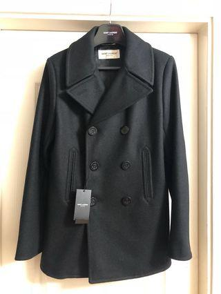 原價$17900)全新男裝saint laurent Paris pea coat Sz 46 new Ysl slp
