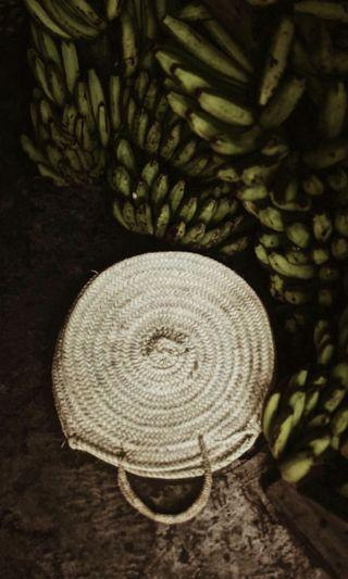 🚚 Round Rattan Bag (Large)