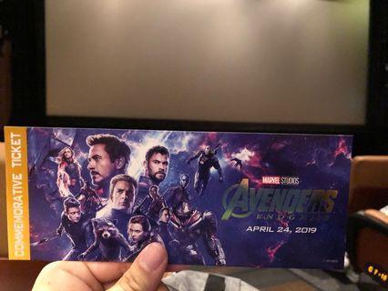 Avengers endgame ticket