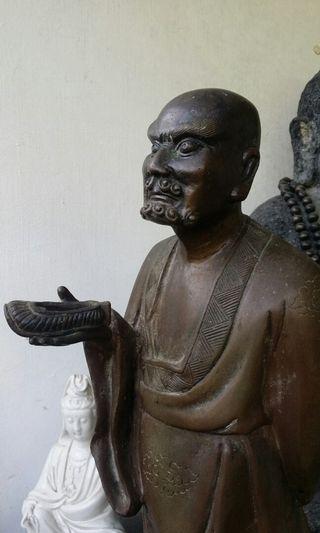 老舊達摩铜像