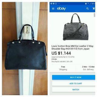 Louis Vuitton LV brea mm epi leather authentic
