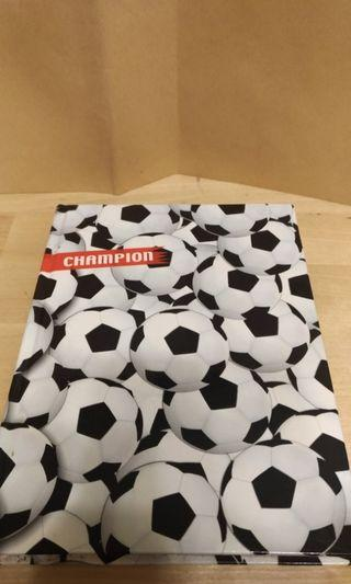 足球筆記本