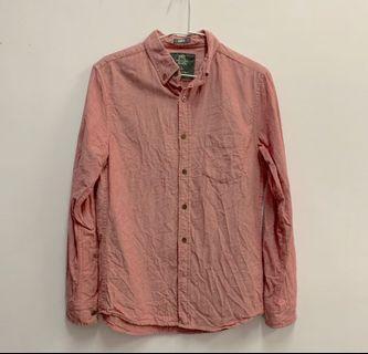 Net 鈕扣立領單口袋長袖休閒襯衫