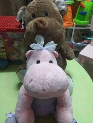 Baby plush toys (cute hippo)
