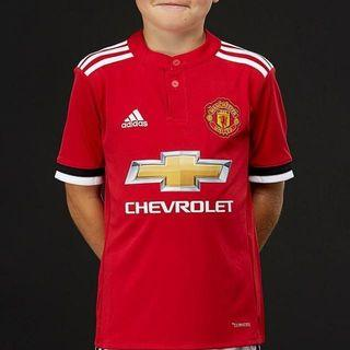 87520aca2 Brand New Authentic Adidas Manchester United 17 18 Climacool Kids Home  Jersey Size 152 UK