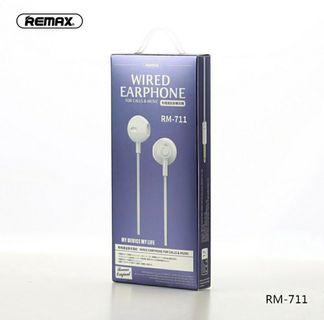Remax In-ear Wired Control Headset Build-in Mic Music Earphones Volume