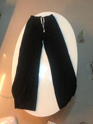 棉質顯瘦 運動長棉褲 黑色